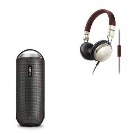 Купить Портативная акустика Philips BT6000B/12 + наушники Philips SHL5505YB/00