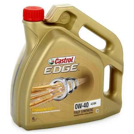 Купить Моторное масло Castrol EDGE Titanium FST 0W/40 А3/В4, 4 л, синтетическое