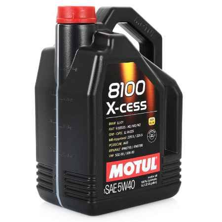 Купить Моторное масло MOTUL 8100 X-cess SAE 5W/40, 5 л, синтетическое