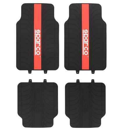 Купить Коврики в салон Sparco Racing, чёрные/красный, 4шт (SPC/RCN-504 BK/RD)