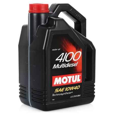 Купить Моторное масло MOTUL 4100 Multidiesel 10W/40 для дизельных и турбодизельных, 5 л