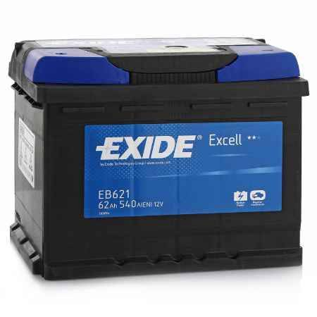 Купить Аккумулятор EXIDE Excell EB621 12V 62Ah 540A L+