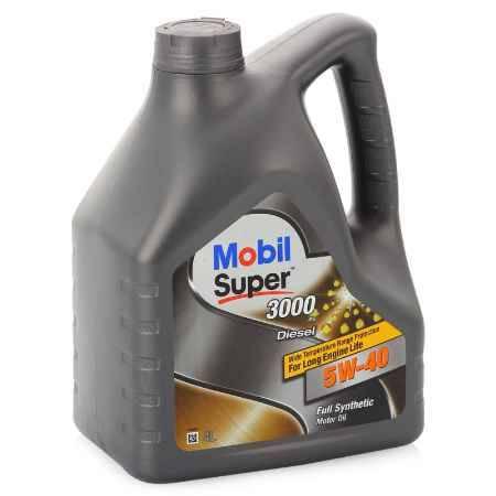 Купить Моторное масло Mobil SUPER 3000 X1 DIESEL 5W/40, 4 л, синтетическое