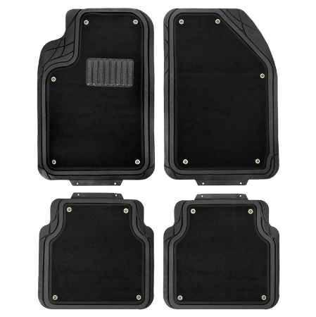 Купить Коврики в салон Autoprofi Focus 2 размер L, черный, резина, 4шт