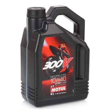 Купить Моторное мото масло MOTUL 300 V, 4Т FL Road Racing SAE 10W40, 4 л
