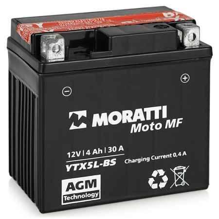 Купить Аккумулятор Moratti MF12V (YTX5L-BS) - 4Ач