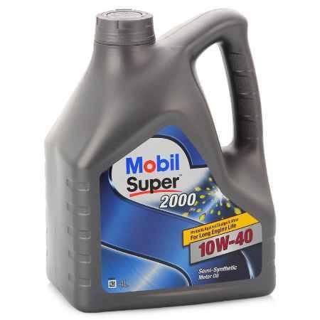 Купить Моторное масло Mobil SUPER 2000 X1 10W/40, 4 л, полусинтетическое