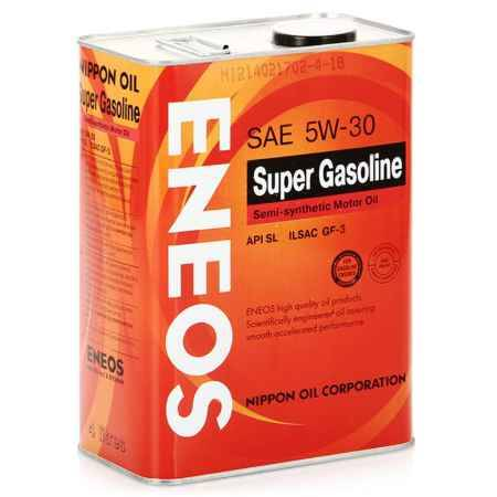 Купить Моторное масло ENEOS 5W30 SL, 4 л, полусинтетическое
