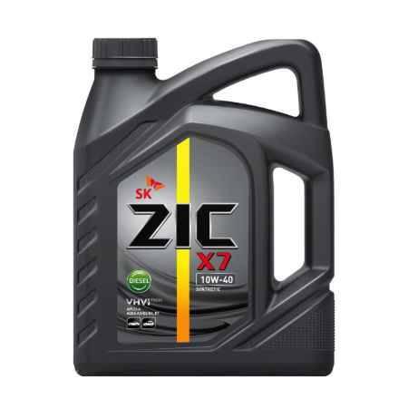 Купить Моторное масло ZIC X7 DIESEL 10W-40 6л синтетическое