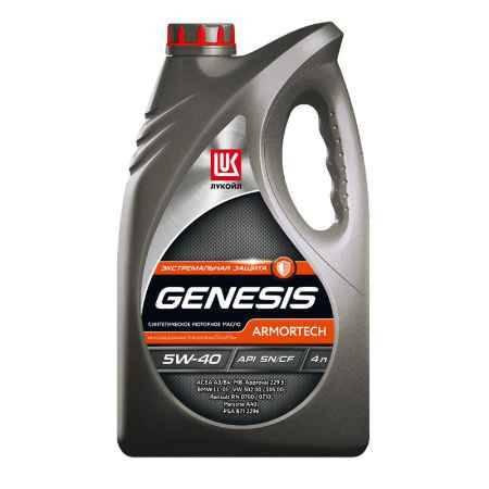 Купить Моторное масло Лукойл GENESIS ARMORTECH 5W-40, 4л, синтетическое