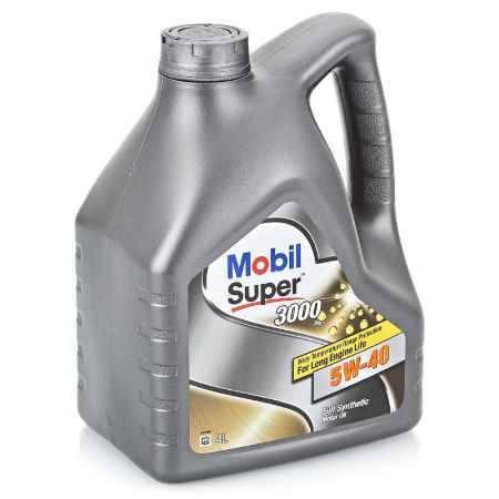 Купить Моторное масло Mobil SUPER 3000 X1 5W/40, 4 л, синтетическое