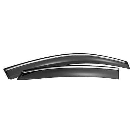 Купить Дефлекторы окон SkyLine Honda CR-V 12- (OEM type Chrome molding  with clip), комплект 4шт
