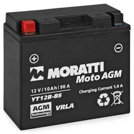 Купить Аккумулятор Moratti VRLA (AGM)12V (YT12B-4/YT12B-BS) - 10Ач