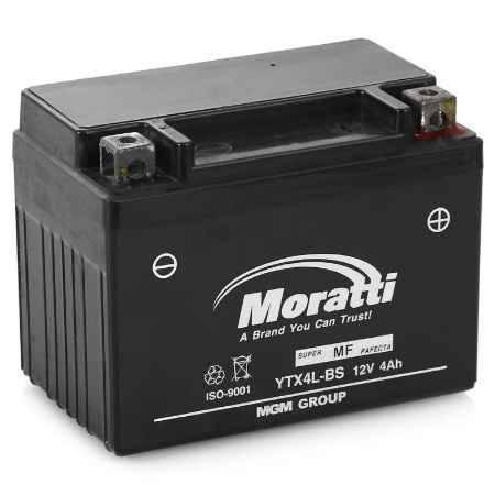 Купить Аккумулятор Moratti VRLA (AGM) 12V (YTX4L-BS) - 4Ач
