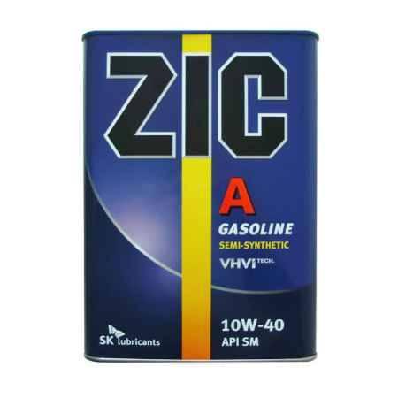Купить Моторное масло ZIC A 10W/40 SM, 4 л, полусинтетическое