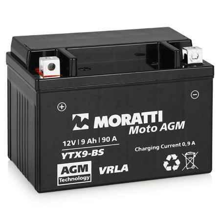 Купить Аккумулятор Moratti VRLA (AGM)12V (YTX9-BS) - 9Ач