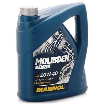 Купить Моторное масло Mannol Molibden Benzin 10W/40, 4 л, полусинтетическое