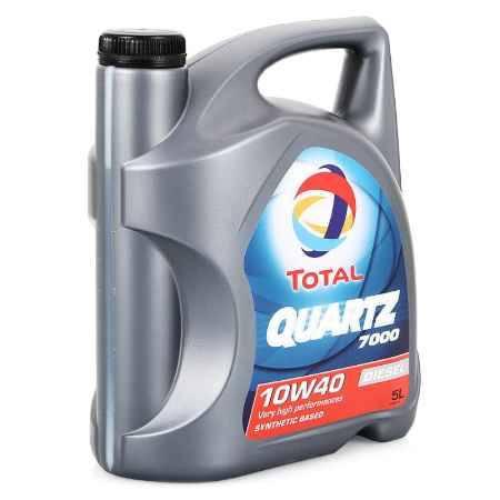 Купить Моторное масло Total Quartz Diesel 7000 10W/40, 5 л, полусинтетическое