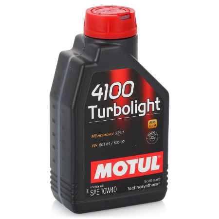 Купить Моторное масло MOTUL 4100 Turbolight 10w40, 1 л, полусинтетическое