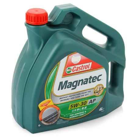 Купить Моторное масло Castrol Magnatec AP 5W/30 для японских и корейских авто, 4 л, синтетическое