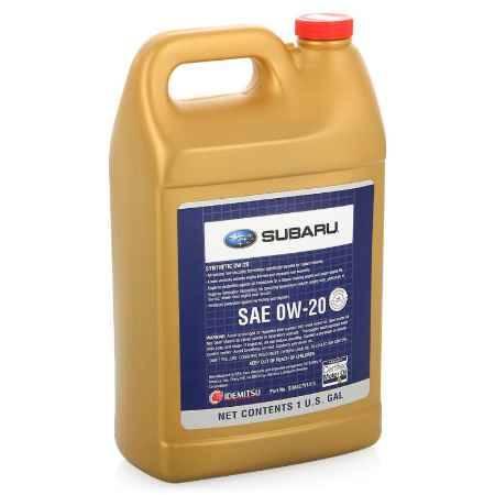 Купить Моторное масло SUBARU Synthetic SAE 0W/20, 3,780 л (SOA427V1315)