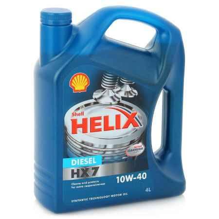 Купить Моторное масло Shell Helix НХ7 Diesel 10W/40, 4 л, полусинтетическое