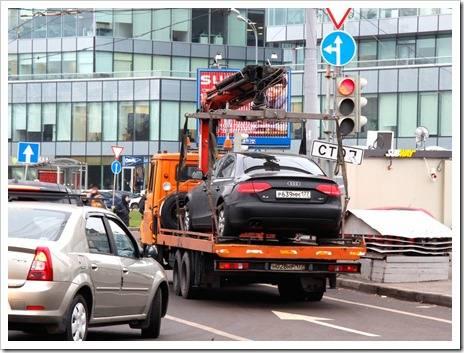 Процедура эвакуации автомобиля