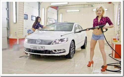Почему автомобиль лучше мыть на мойке?