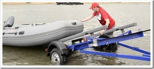 Методика погрузки лодки на прицеп