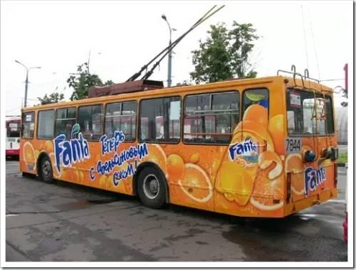 Реклама внутри транспорта