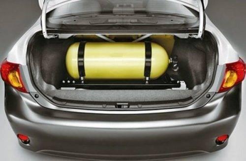 газовое оборудование в автомашине