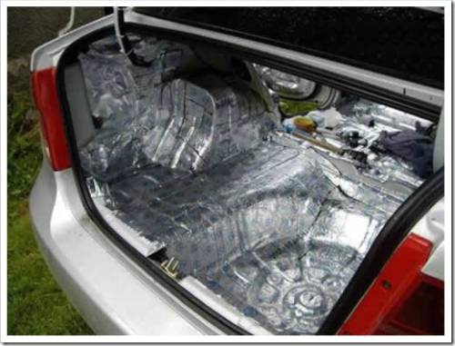 Принципы установки шумоизоляции салона авто