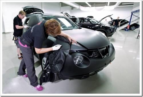 Принципы нанесения плёнки на кузов автомобиля