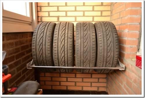 Укладываем шины на хранение без дисков