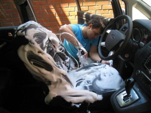 Химчистка авто своими руками: что нужно